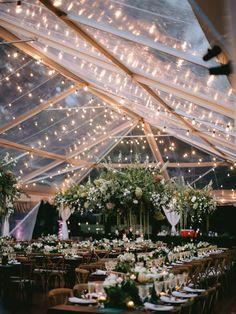 19 Outdoor Wedding Tent Decoration Ideas We Love Woodsy Wedding, Outdoor Wedding Reception, Wedding Venues, Wedding Ideas, Dream Wedding, Backyard Tent Wedding, Forest Wedding, Outdoor Wedding Lights, Wedding Tent Lighting