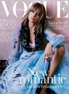 Taylor Swift shows bra on the cover of Vogue Australia | Daily Mail Online
