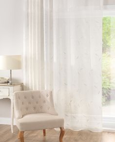 Leaf Cream Voile Panel from Net Curtains Direct - Available in various ready made sizes ready to hang Voile Panels, Voile Curtains, Curtains Direct, Free Fabric Samples, Embroidered Leaves, Pencil Pleat, Natural Texture, Mountain View, Cream
