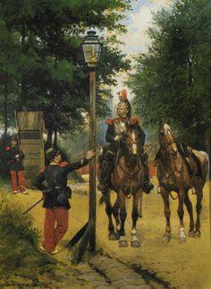 Le Poste de Garde- by Edouard Detaille