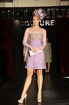 lace and silk chiffon Hillenius Couture