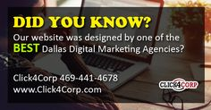 Thank you, Click4Corp.   #DallasDigitalMarketingAgency  #DallasWebDesignAgency  Check out our site, https://www.acrepair-garland.com/