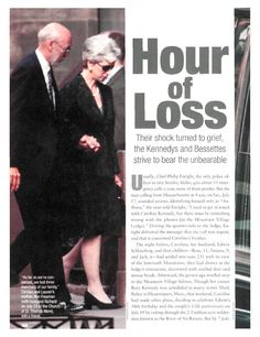 Hour of Loss - Personal Tragedy, Coping and Overcoming Illness, Carolyn Bessette, John Kennedy Jr. : People.com