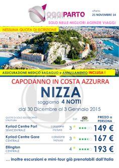 Offerta Capodanno in Costa Azzurra Nizza soggiorno 4nts #offerta #nizza #capodanno #costaazzurra #ftravelpromoter a partire da 149 euro!!!