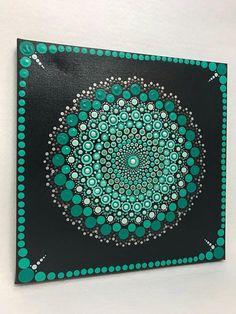 Mandala Original Painting on Canvas Dotilism Dot Painting