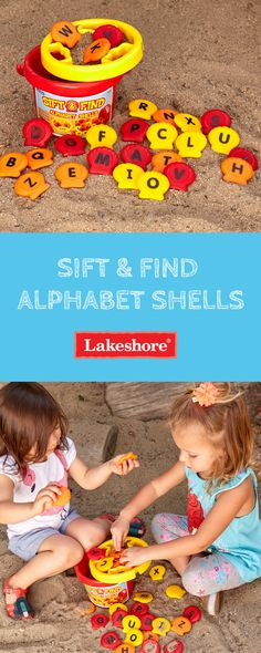 Turn a day in the sand into a day of learning—with our Sift & Find Alphabet Shells! Kids simply scoop and sift the 26 plastic shells…perfect for boosting letter recognition, simple word building and more! Outside Activities, Summer Activities For Kids, Lakeshore Learning, Copy Cats, Word Building, Sand And Water, Letter Recognition, Early Literacy, Simple Words