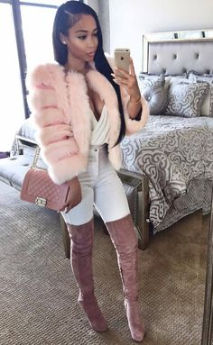 All Things Lovely In This Summer Outfit. - Street Fashion, Casual Style, Latest Fashion Trends - Street Style and Casual Fashion Trends Fashion Killa, Look Fashion, Fur Fashion, Fashion Beauty, Fall Winter Outfits, Autumn Winter Fashion, Dope Outfits, Fashion Outfits, Fashion Trends