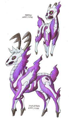 Deerie > Skeleteer (Ghost/Fire)