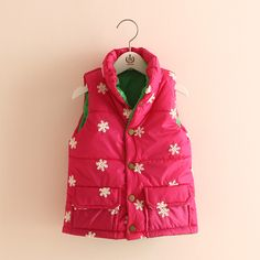 6273c27cc Baby Snowflake Waistcoats Girls Both Sides Wear Thickening Coats,High  Quality coat camel,China
