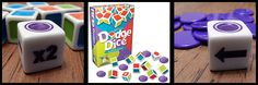 Dodge is a fun dice rolling game about NOT getting points. Yep, you don't want points in this game. Let me tell you how tricky that is since I am so used to trying to get points in dice games. Tricky but so much fun! Taking turns rolling dice and setting aside the color that could give you points is fun and counts on a bit of luck.
