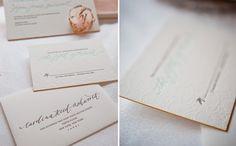 Gus & Ruby Letterpress: Custom Work: Carolina & Logan