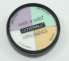 Got it on sale at Walgreen's for just $2! Such a steal! Wet n Wild Coverall Correcting Palette - I used all but the lavender concealer, and everything worked great! The green was intimidating at first, but it really neutralized the red in my skin.