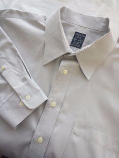 Joseph & Feiss Shirt Size 17 1/2 34-35 Gray Button Front Straight Collar #JosephFeiss