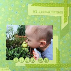 I can't resist to make this scrapbook page. I like to use fabric tape, i. Fabric Tape, Little Boys, Scrapbook Pages, Flower Pots, Prince, Creative, Fabric Ribbon, Flower Vases, Plant Pots