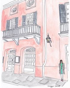It's been a very long day  I'm happy to be winding down to dream of all the possibilities that tomorrow can bring!  #NOLAarchitecture #architecture #illustration #penandink #painting #beautyinbuildings #selfportrait #girlboss #boss #thatlacommunity #archilovers #neworleans #neworleansart #neworleanshanddrawn #handmade #archilovers #growth #longday #frenchquarter #brennans #restaurant #realestate by walkingmanstudios