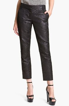 Officially dying over these Elizabeth and James Black Brocade Pants