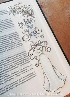 Love One Another 1 John Scripture Art, Bible Art, Bible Scriptures, Bible Drawing, Bible Doodling, Bible Study Journal, Art Journaling, Scripture Journal, Prayer Journals