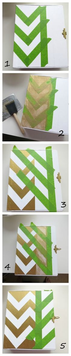 DIY Chevron Memory Lock-Box