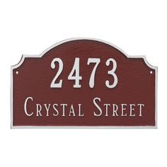 Montague Metal Products Vanderbilt Estate Two Line Address Plaque Finish: Antique Copper/Copper
