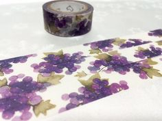 Purple Grapes washi tape 7M Grapes scene natural by TapesKingdom