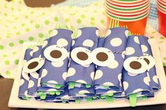 Napkins for monster party