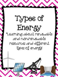 This pack focuses on the different type of energy that can create electricity. The types included in this pack are wind power, hydropower, solar power, geothermal, biomass, oil, coal, and natural gas. The activities included are:*9 reading passages with questions*State energy research report*Types of energy memory*Types of energy task cards with a recording sheet and answer sheetCheck out my science pack!Third Grade Science Pack