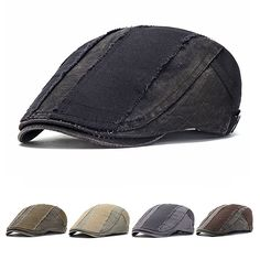 f3e79a53897 Mens Vintage Washed Pure Cotton Beret Hat Casual Adjustable Breathable  Newsboy Cabbie Cap is hot sale on Newchic.