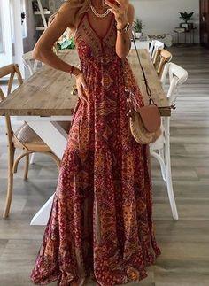Elegant Dresses, Casual Dresses For Women, Long Boho Dresses, Sun Dresses, Ladies Maxi Dresses, Bohemian Formal Dress, Bohemian Summer Dresses, Best Summer Dresses, Hippie Dresses