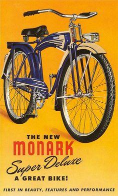 Vintage Bicycle Posters: Monark by Mikael Colville-Andersen, via Flickr