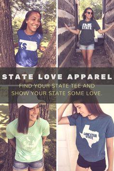 STATE PRIDE TEES. HOME STATE TEE. STATE PRIDE. HOME STATE PRIDE. TSHIRTS.