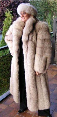 Blush Fox Fur Coat & Hat