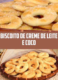 BISCOITO DE CREME DE LEITE E COCO
