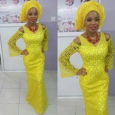 Wedding guest lookpic via @versatilebay#yellowaseobilook #yellowgele #tradlook #instapic #guestlook #mellowyellow #sugarweddings #yellowasoebi