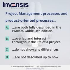 Project Management processes and product-oriented processes... Looking to build your CAPM knowledge? Please visit www.invensislearning.com for more information on our upcoming CAPM courses in Copenhagen and around the world. Get 10% discount on an upcoming training program within 3 months of attending our course. #CAPMExam #CAPM #CAPMTraining #CAPMQuestion #CAPMCertification #CAPMCopenhagen #CAPMDenmark
