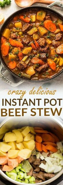 Instant Pot Pressure Cooker Homemade Classic Beef Stew makes the perfect comfort. - Instant Pot Pressure Cooker Homemade Classic Beef Stew makes the perfect comforting dish on a cold - Pressure Cooker Stew, Instant Pot Pressure Cooker, Pressure Cooking, Pressure Cooker Vegetable Soup, Pressure Cooker Sweet Potatoes, Pressure Cooker Times, Instant Cooker, Pressure Pot, Electric Pressure Cooker
