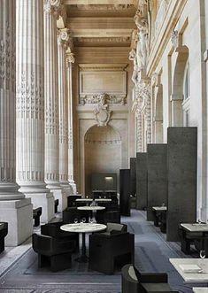 Pal's, restaurant by Joseph Dirand, contrast between modern & classic