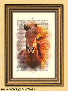 RUNNING FREE HORSE  Dictionary art print by littlevintagechest, $7.99
