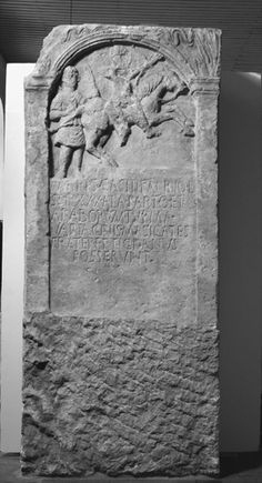 Stele of Maris, eques in the ala Parthorum et Araborum (AE 1959, 188). Early 1st century AD. Landesmuseum Mainz