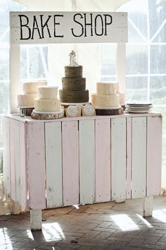 Just some wood, pink & white paint... very country!
