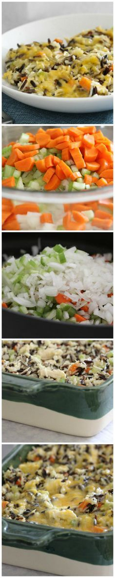 Cheesy Chicken and Wild Rice Casserole, a Pinterest favorite! #casserole #dinner