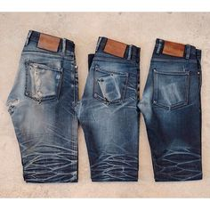 """redand51ue: """" Next Monday we'll be posting up photos of the three winning pairs from our 3sixteen x Reddit r/RawDenim contest that finished last year. You may have seen photos of them here and there..."""