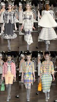 Top row middle - I die.  So beautifully strange and strangely beautiful.  I die.  Thom Browne Spring 2013 Collection | Tom & Lorenzo