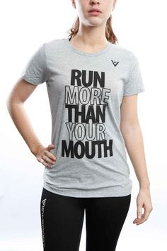 "Women's ""Run More Than Your Mouth"" 50/50 Crew"