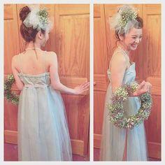 Instagram photo taken by マリ - INK361 Wedding Kimono, Wedding Veil, Wedding Make Up, Dress Hairstyles, Wedding Hairstyles, Wedding Images, Wedding Styles, Hawaii Hair, Hair Arrange