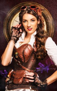 Steampunk Tendencies | Steampunk Rissy - Model: Rissy Dollins - Photography: Manny Llanura - Location: Wonderland Studios #Fashion #Steampunk