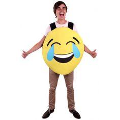 Emoticon kostuum lachend. Dit emoticon instap kostuum van foam met lachend gezicht is gemaakt van 100% polyester en is geschikt voor volwassenen.