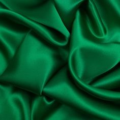 Kelly Green Silk Charmeuse