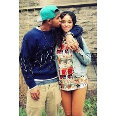 Cute swagged up couple