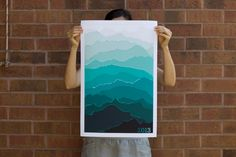 2013 Mountain Calendar (Sea Green) via Etsy. Can be bought in different colors.