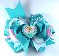 Boutique Cinderella Inspired  Hair Bow Clip by prettybowtique on Etsy